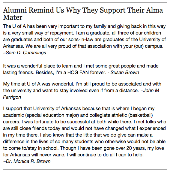U of A Stories