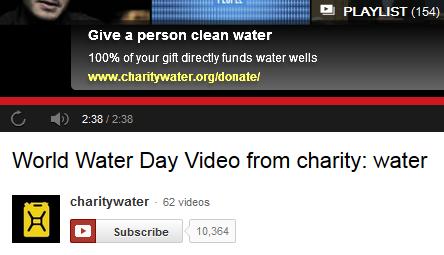 charity:water youtube overlay