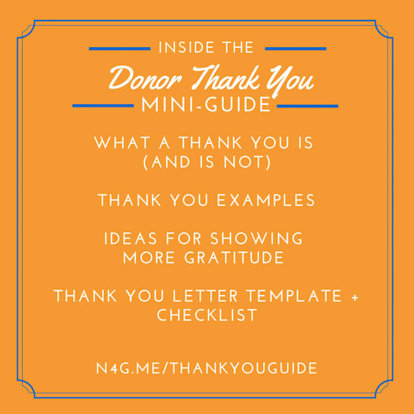The Donor Thank You Mini-Guide