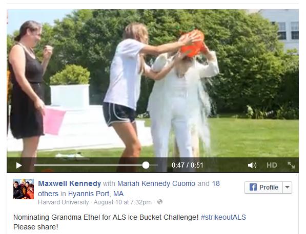 Ethel Kennedy Ice Bucket challenge