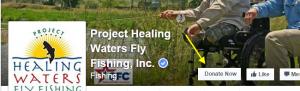 Facebook cover photo donate now button