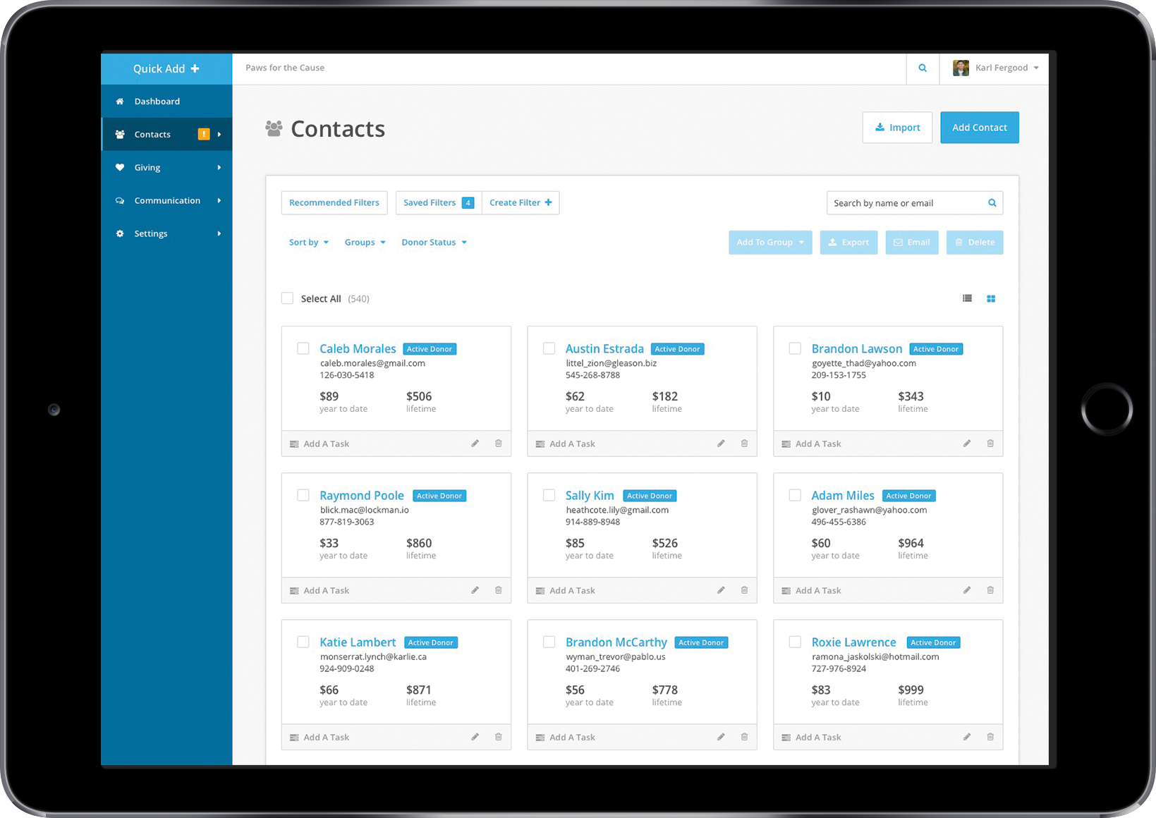 Donor Management Software Crm For Nonprofits Network