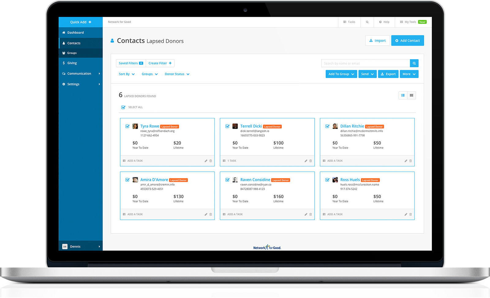 Donor Management Software, CRM for Nonprofits | Network for Good