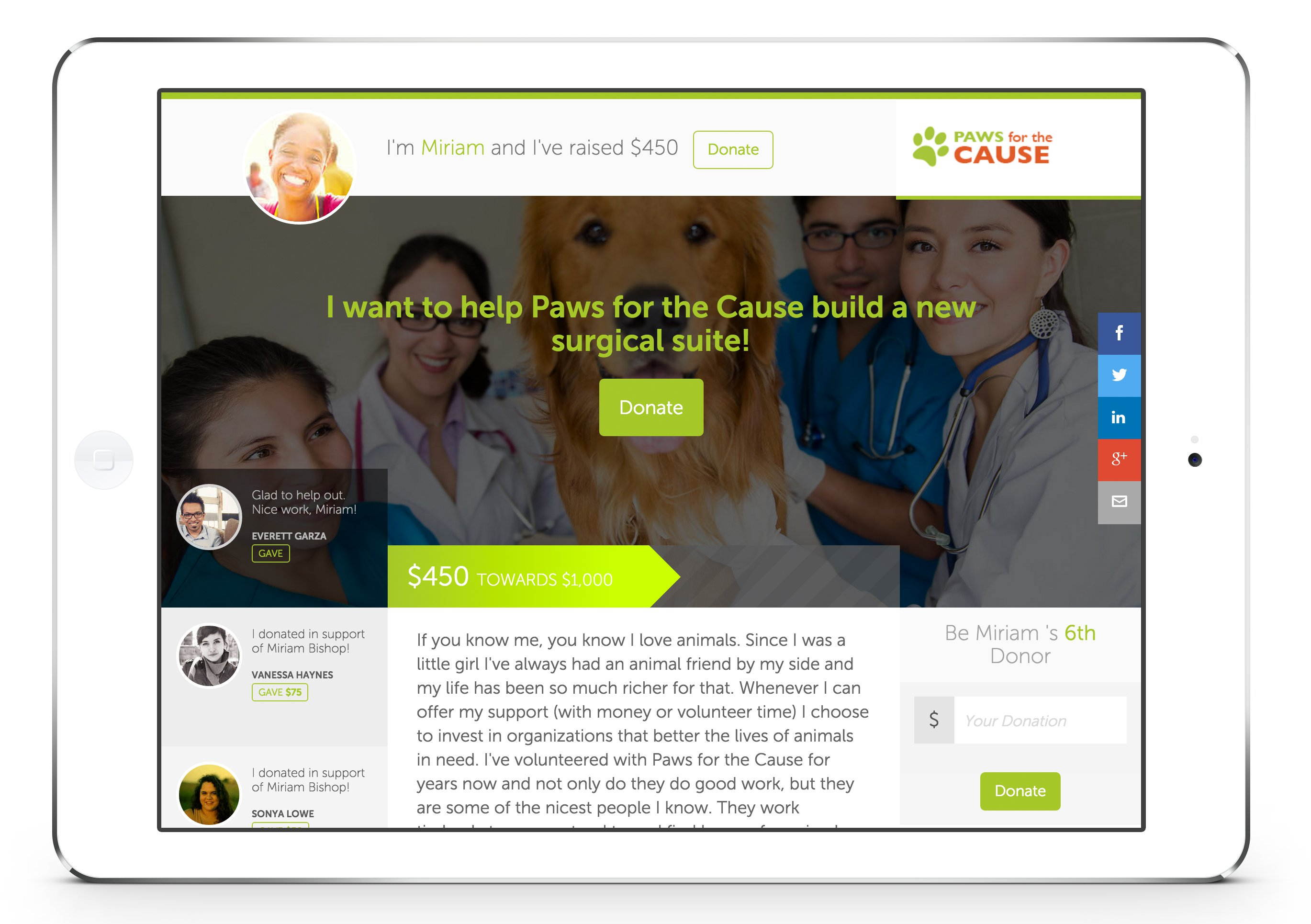 Fundraising Campaign Pages Network For Good