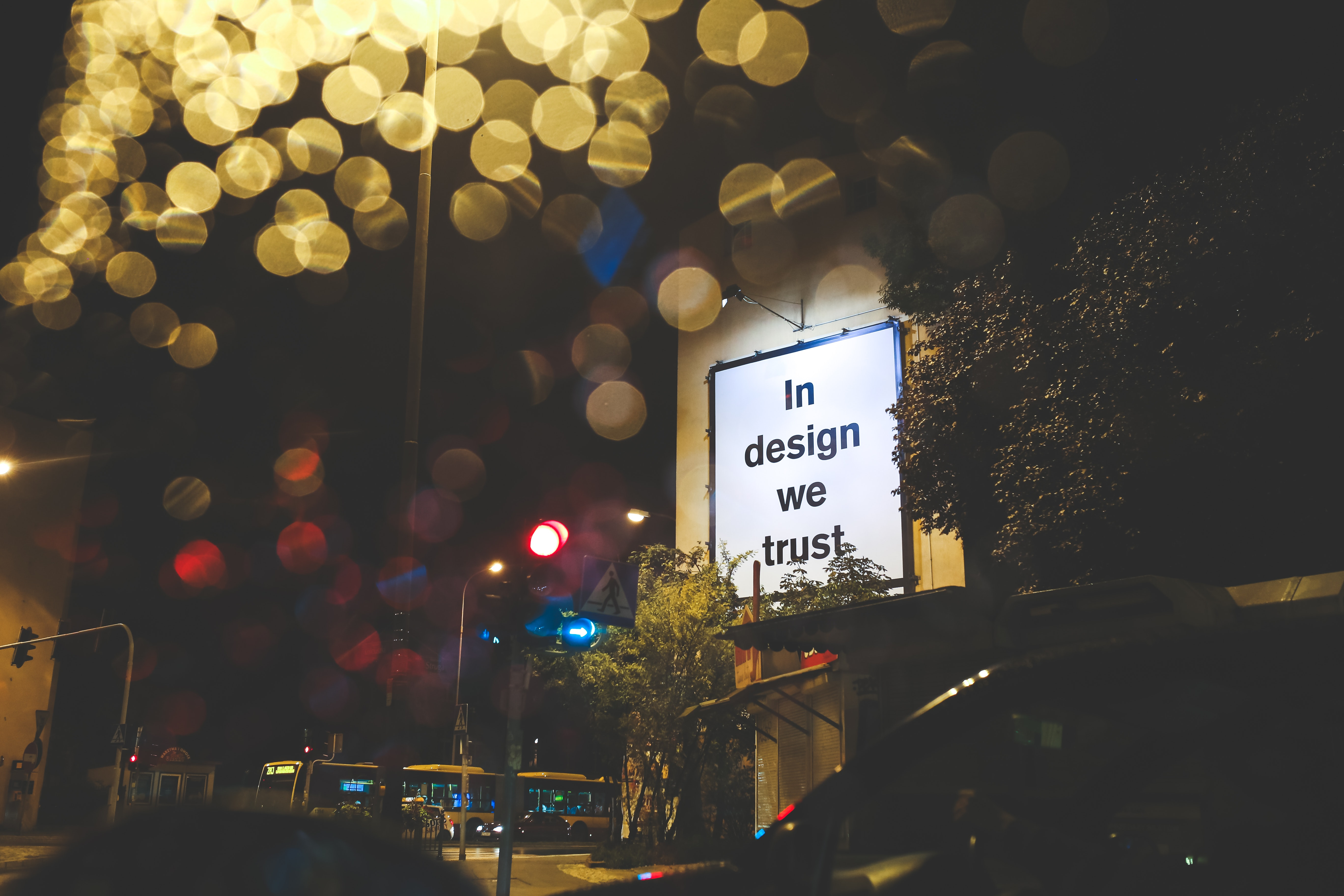 """in design we trust"" billboard"