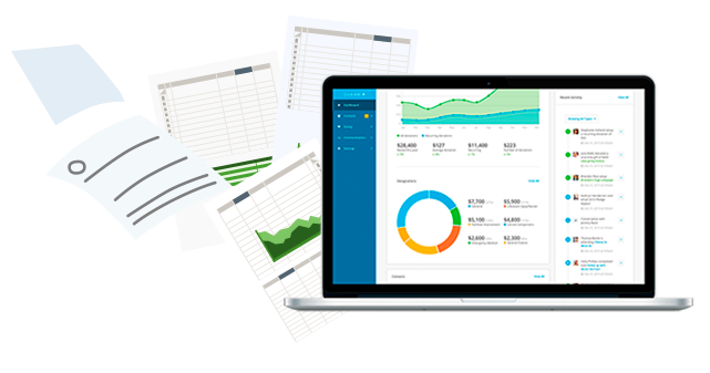 Ditch spreadsheets. Easy to use fundraising software