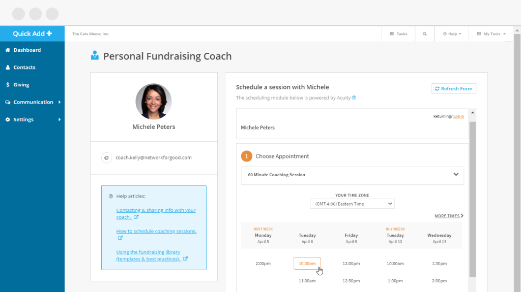 Personal Fundraising Coach