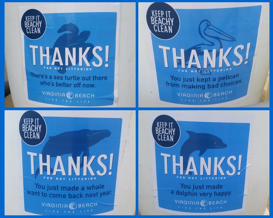 Beachy Clean Trash Can Stickers