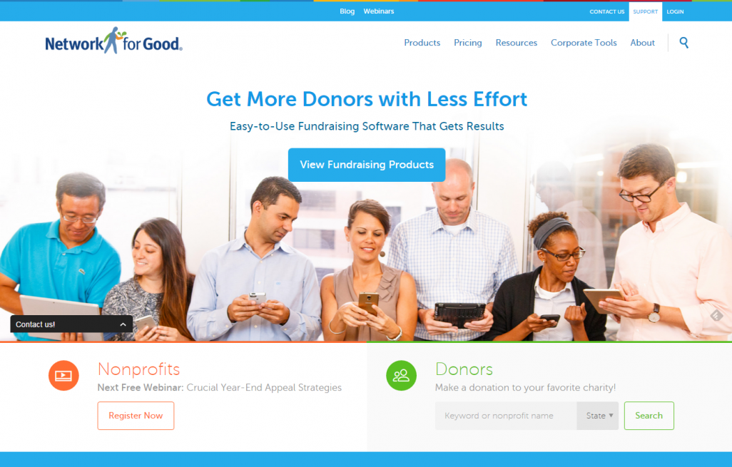 New Network for Good Website